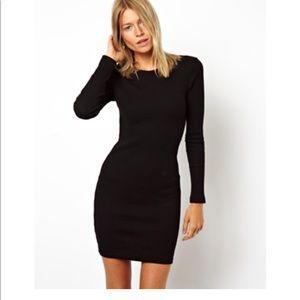My Michelle black fitted dress sz L